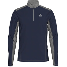Odlo Steeze Capa Intermedia 1/2 Cremallera Hombre, diving navy/grey melange